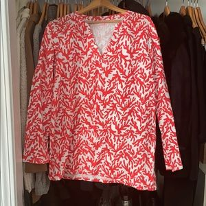Lily Pulitzer Odette Island Coral Tunic New Size L